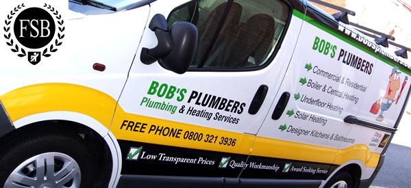 Bob's Belfast Plumbers Van